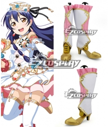 Love Live! Umi Sonoda White Shoes Cosplay Boots