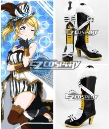 Love Live! Eli Ayase Ellie Black Shoes Cosplay Boots