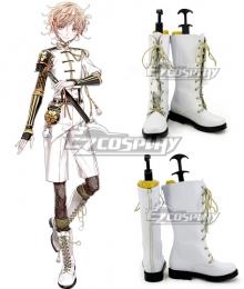 Touken Ranbu Monoyoshi Sadamune White Shoes Cosplay Boots