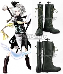 Touhou Project Koumajou Densetsu Legend of Scarlet Devil Castle Youmu Konpaku Deep Green Shoes Cosplay Boots