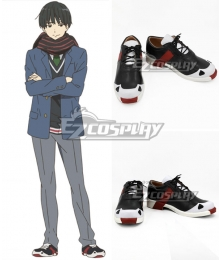 Kyoukai no Kanata Nase Hiroomi Black Cosplay Shoes