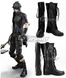 Final Fantasy XV FFXV Noctis Lucis Caelum Black Shoes Cosplay Boots
