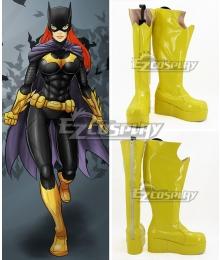 DC Batman Batgirl Yellow Shoes Cosplay Boots