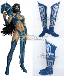 Mortal Kombat Kitana Shoes Cosplay Boots