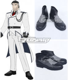 RWBY Volume 4 James Ironwood Black Cosplay Shoes