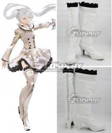 RWBY Weiss Schnee White Shoes Cosplay Boots