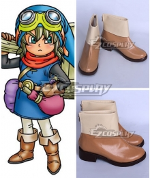Dragon Quest Builders Girl Builder Brown Shoes Cosplay Boots