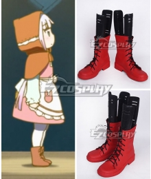 Miss Kobayashi's Dragon Maid Kanna Kamui The Little Match Girl Red Shoes Cosplay Boots