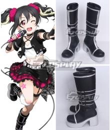 Love Live Nico Yazawa Black Shoes Cosplay Boots