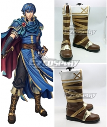Fire Emblem Marth Brown Shoes Cosplay Boots