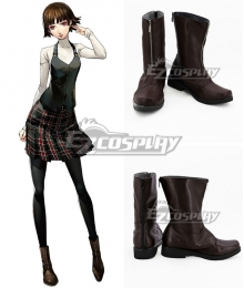 Persona 5 Makoto Niijima Brown Shoes Cosplay Boots