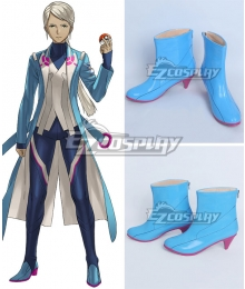 Pokémon GO Pokemon Pocket Monster Blanche Team Mystic Blue Cosplay Shoes