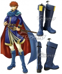 Fire Emblem Eliwood Blue Shoes Cosplay Boots
