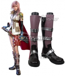 Final Fantasy XIII FF13 Lightning Purple Shoes Cosplay Boots - Starter Edition