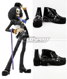 One Piece Brook Burukku Black Cosplay Shoes