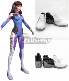 Overwatch OW D.Va DVa Hana Song Black White Cosplay Shoes