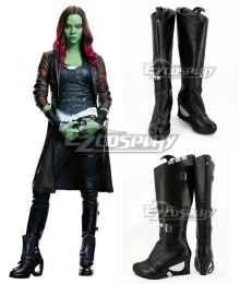 Marvel Guardians of the Galaxy Vol. 2 Gamora Black Shoes Cosplay Boots