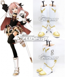 Fate Apocrypha Rider of Black Astolfo White Shoes Cosplay Boots