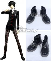 Persona 5 Protagonist Akira Kurusu Ren Amamiya Black Cosplay Shoes