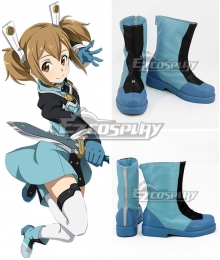 Sword Art Online Ordinal Scale Keiko Ayano Silica Shirika Movie Blue Shoes Cosplay Boots