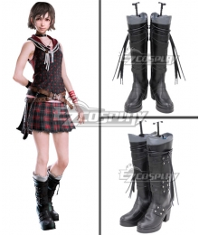 Final Fantasy XV Iris Amicitia Black Shoes Cosplay Boots