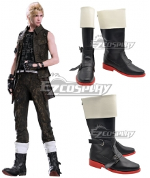 Final Fantasy XV Prompto Argentum Black and White Shoes Cosplay Boots