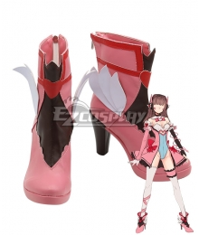 Overwatch OW Magic Girl D.Va DVa Hana Song Pink Shoes Cosplay Boots
