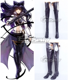RWBY Blake Belladonna Black Shoes Cosplay Boots