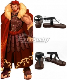 Fate Extella Rider Conquestor Alexander Black Cosplay Shoes