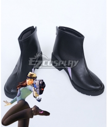 Overwatch OW D.Va DVa Hana Song Officer Black Shoes Cosplay Boots