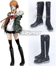 Persona 5 Navi Futaba Sakura Black Shoes Cosplay Boots