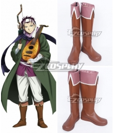 The Heroic Legend of Arslan Gieve Brown Shoes Cosplay Boots