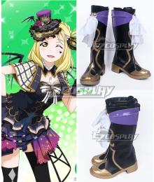 LoveLive!Sunshine!! Ohara Mari Black Shoes Cosplay Boots
