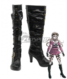 Danganronpa V3: Killing Harmony Miu Iruma Black Shoes Cosplay Boots