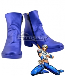 JoJo's Bizarre Adventure Johnny Joestar Blue Shoes Cosplay Boots