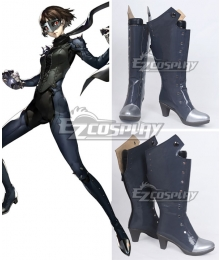 Persona 5 Queen Makoto Niijima Deep Grey Shoes Cosplay Boots