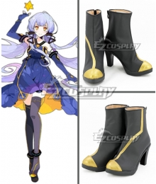 Vocaloid Stardust Black Shoes Cosplay Boots