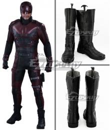 Marvel Daredevil Matt Murdock Daredevil Black Shoes Cosplay Boots