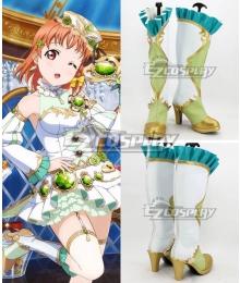 Love Live! Kousaka Honoka Shoes Green Cosplay Boots