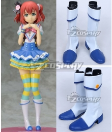 LoveLive! Sunshine!! Aqours Jumping Heart Kunikida Hanamaru White Shoes Cosplay Boots