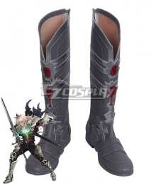 Fate Apocrypha Saber of Black Siegfried Silver Shoes Cosplay Boots