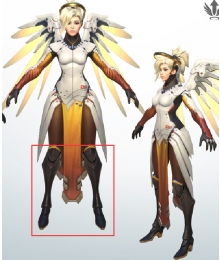 Overwatch OW Mercy Angela Ziegler Shoes Cosplay Boots