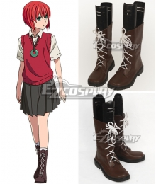 The Ancient Magus' Bride Mahoutsukai no Yome Chise Hatori Brown Cosplay Shoes
