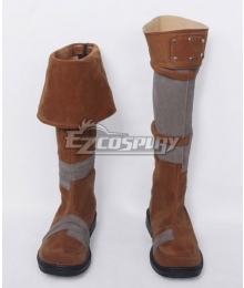 Fallout Preston Garvey Brown Shoes Cosplay Boots