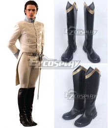 Disney Cinderella Movie 2015 Char Prince Black Shoes Cosplay Boots