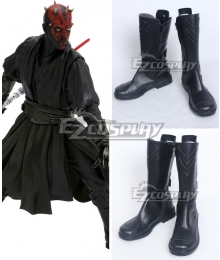 Star Wars Darth Maul Black Shoes Cosplay Boots - A Edition