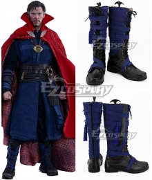 Marvel Doctor Strange Stephen Steve Vincent Strange Blue Shoes Cosplay Boots