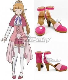 Sword Oratoria DanMachi Familia Myth Is It Wrong to Try to Pick Up Girls in a Dungeon Danjon ni Deai o Motomeru no wa Machigatteiru Daro ka Lefiya Viridis Pink Cosplay Shoes