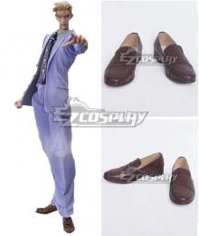 JoJo's Bizarre Adventure Yoshikage Kira Brown Cosplay Shoes