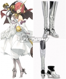 Fate Apocrypha Berserker of Black Frankenstein's Monster Silver Shoes Cosplay Boots
